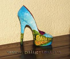 сувенирная туфелька,маленькая
