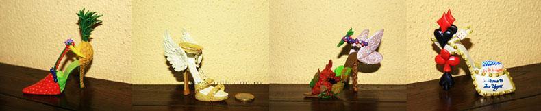 """коллекционные миниатюрные туфельки """"Walk this way"""""""