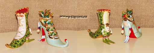 миниатюрные сувенирные металлические туфельки-шкатулочки